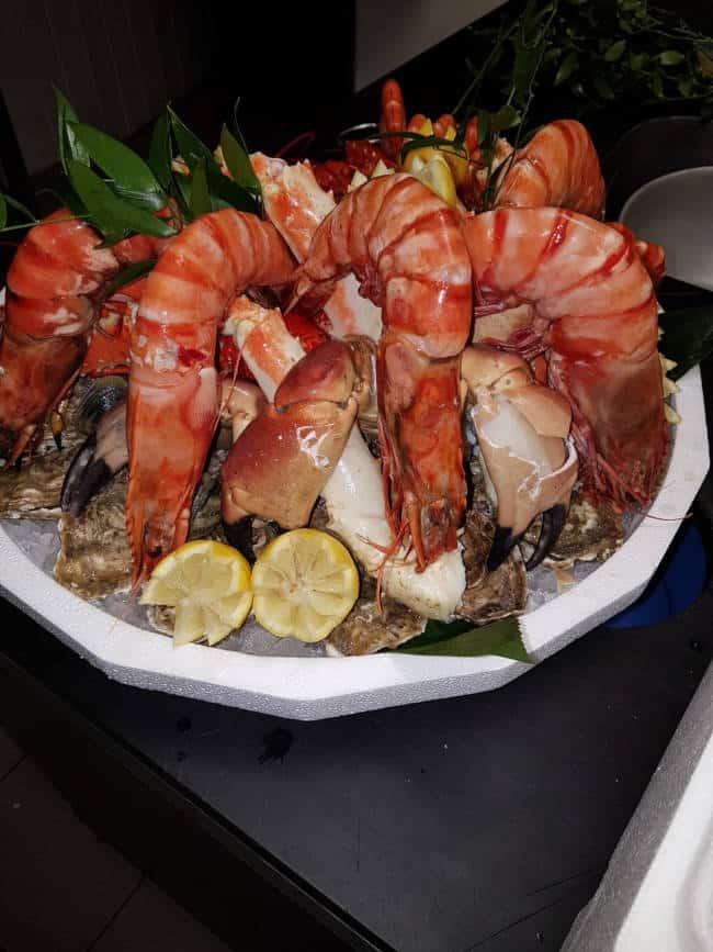 Huîtres, crabe et Camerone